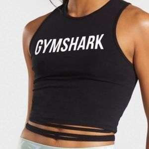 Gymshark cropped top with wrap around ties